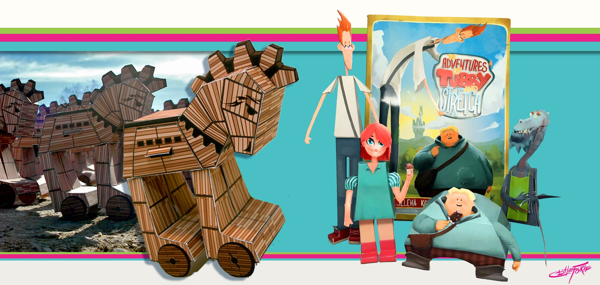 characters, paper toys, templates