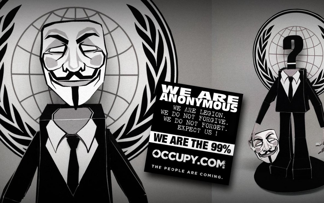 Anonymous Occupy Paper Toy
