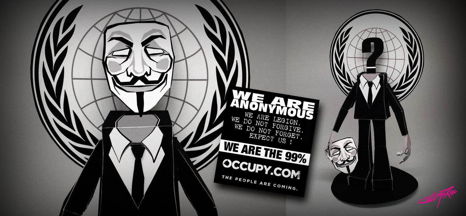 Anonymous Occupy Papercraft Paper Toy