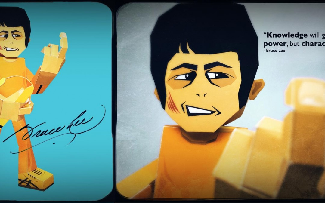 Bruce Lee PaperGodz Paper Toy