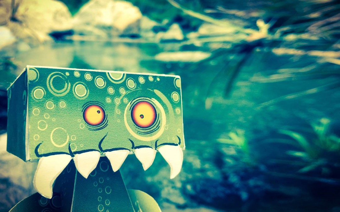 HedKase Sea Monster Paper Toy
