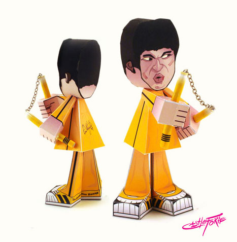 Original Bruce Lee Paper Toy 2008