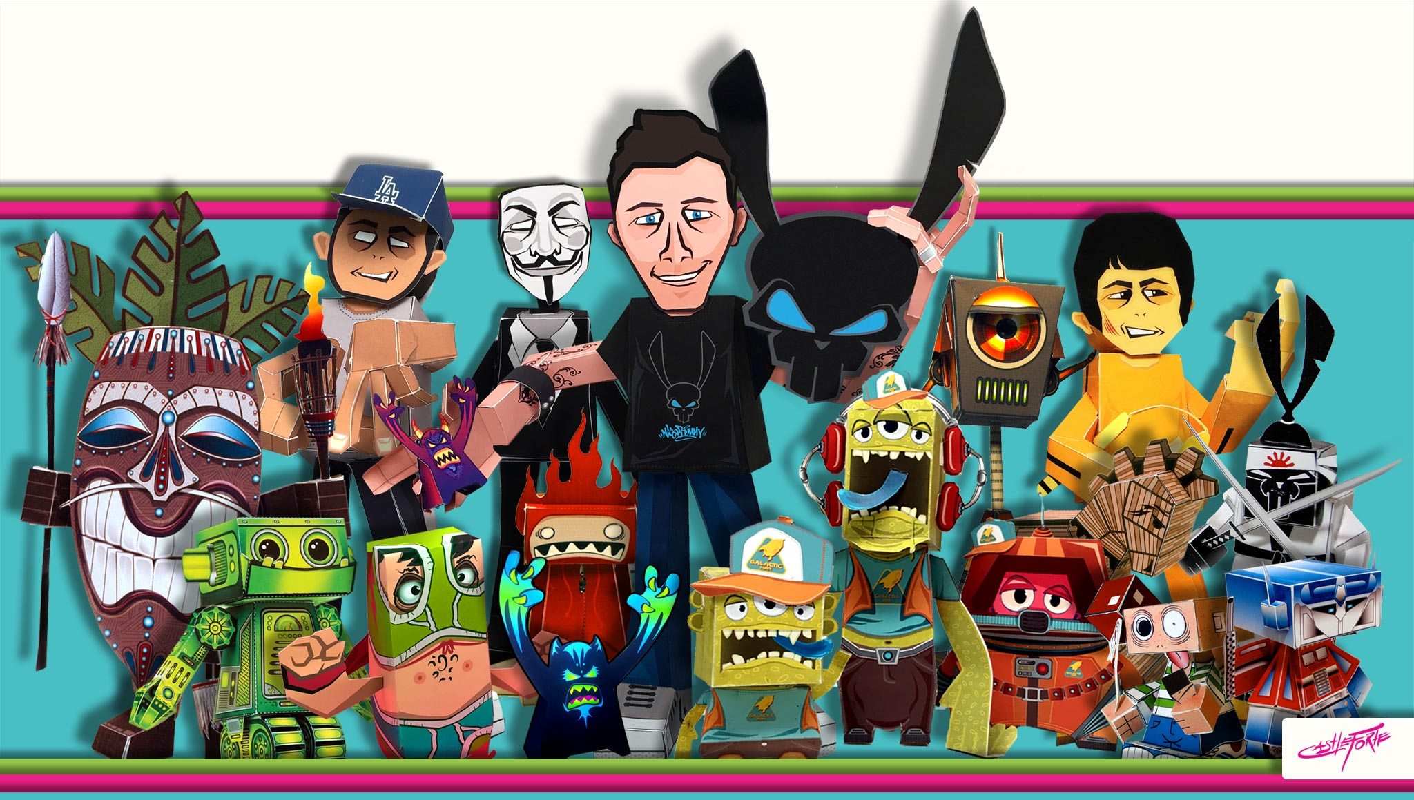 paper toys, characters, templates