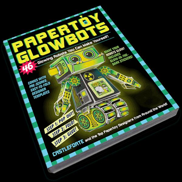 Papertoy Glowbots paper craft books