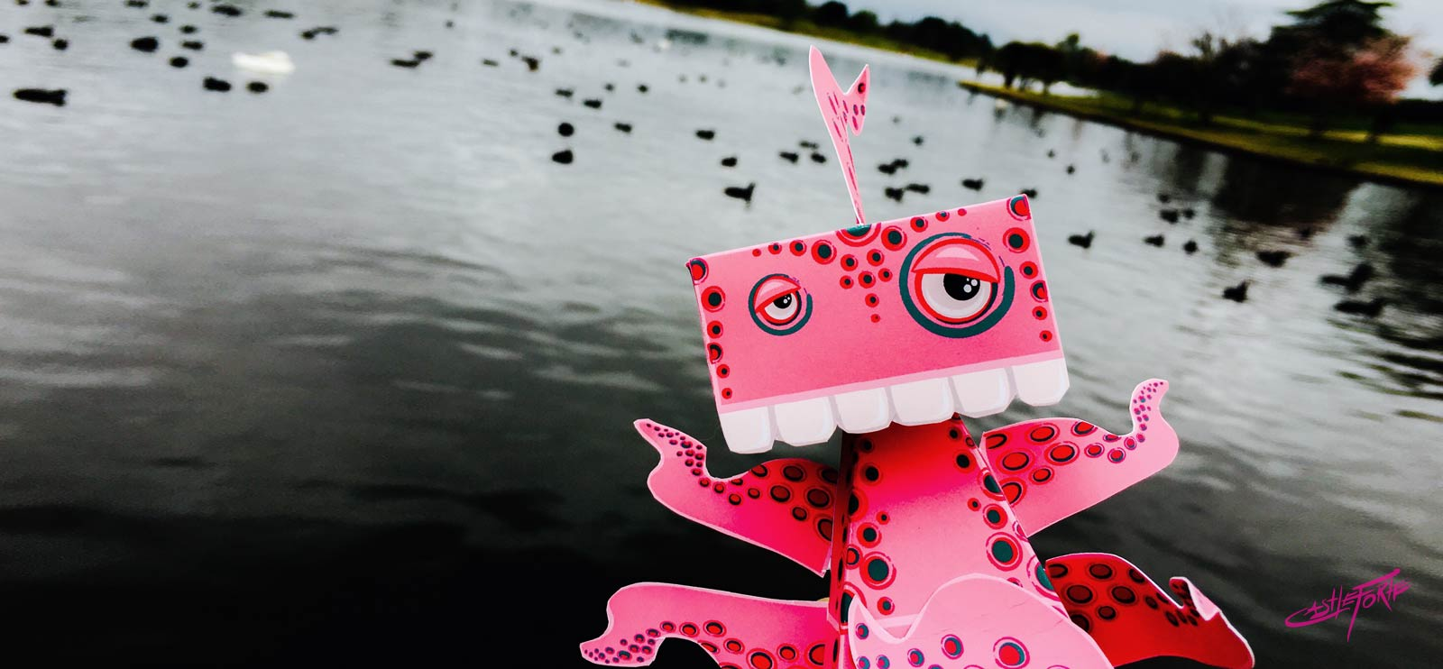 Clammy 2.0 HedKase Paper Toy